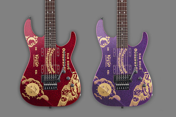 ESP Announces Limited Edition & LTD Kirk Hammett Sparkle Ouija Models!
