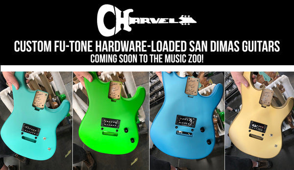 Charvel Custom Shop FU-Tone Loaded Satin Frost-Finished San Dimas Guitars Coming to The Music Zoo!