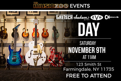 Gretsch, Jackson, EVH and Charvel Day & Giveaway - November 9th at The Music Zoo!