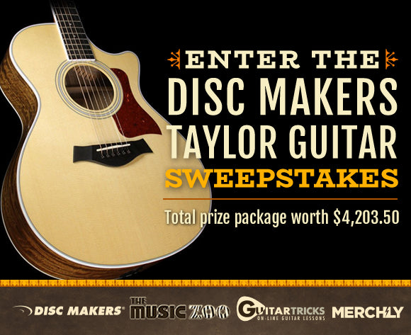 Disc Makers Taylor 412ce Acoustic Guitar Sweepstakes!
