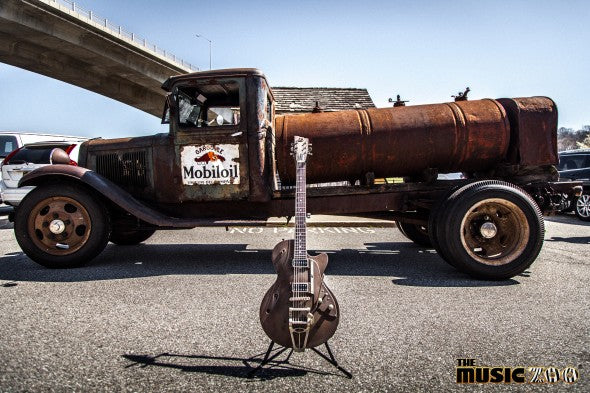 "Cars & Guitars: Vintage Ford Farm Truck & The Duesenberg ""Rusty Patina"" Starplayer"