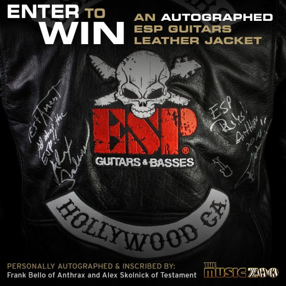 ESP Guitars Autographed Leather Jacket Giveaway
