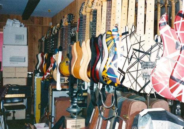Photos Of Eddie Van Halen's Guitar Collection At 5150