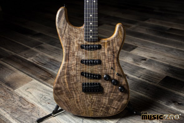 New Arrivals! – Fender Custom Shop Walnut & Koa Stratocaster Masterbuilt By John Cruz