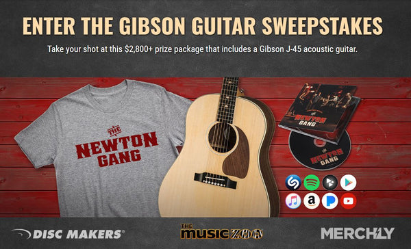 Disc Makers Gibson J-45 Sustainable Series Acoustic Guitar Sweepstakes!