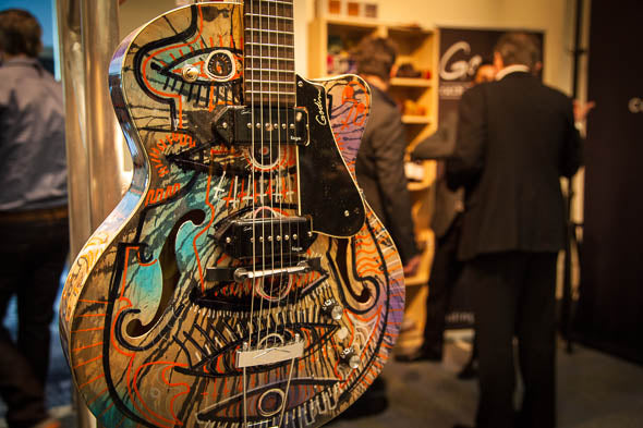 2013 Godin Joseph Arthur Hand Painted Kingpin Guitars