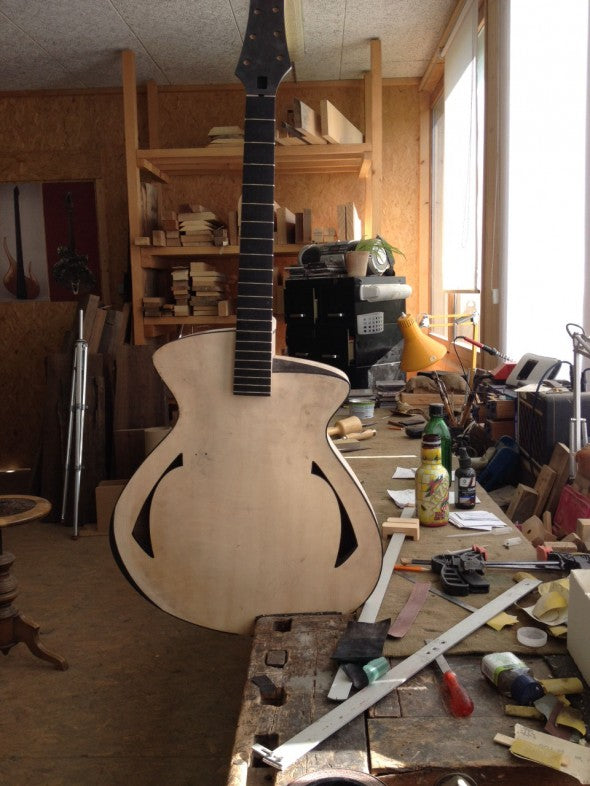 Pagelli Massari Guitar Update:  In-Process Photos