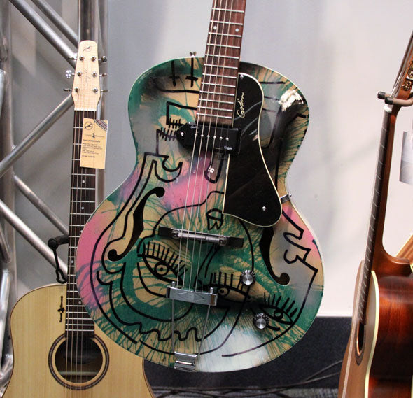Joseph Arthur Hand Painted Godin Kingpin Guitars