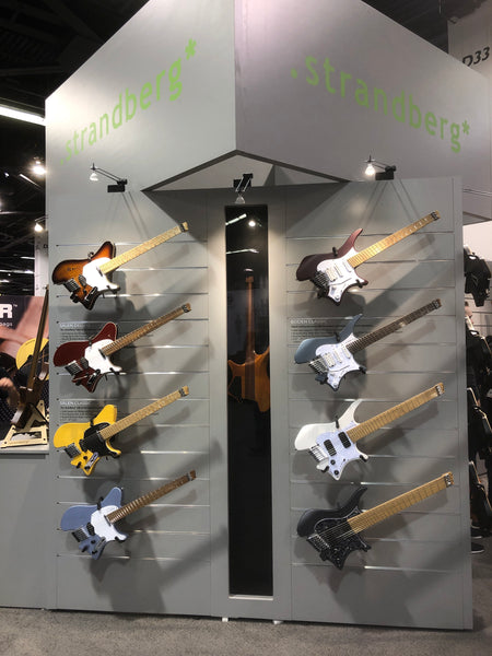 Strandberg Boden Bass and guitars namm 2019 the music zoo