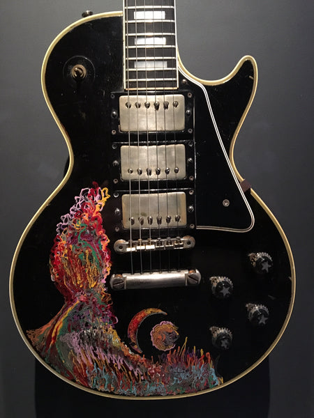Keith Richards Painted Les Paul Custom The Met - The Music Zoo