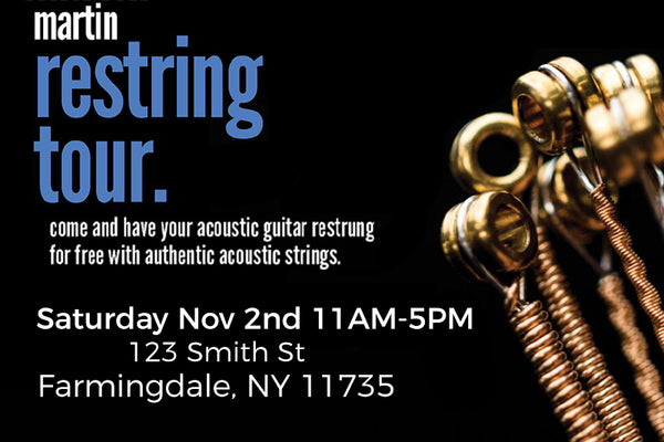 Martin Restring Tour At The Music Zoo!