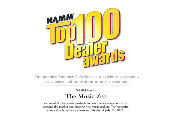 The Music Zoo Named NAMM Top 100 Dealer For 2013