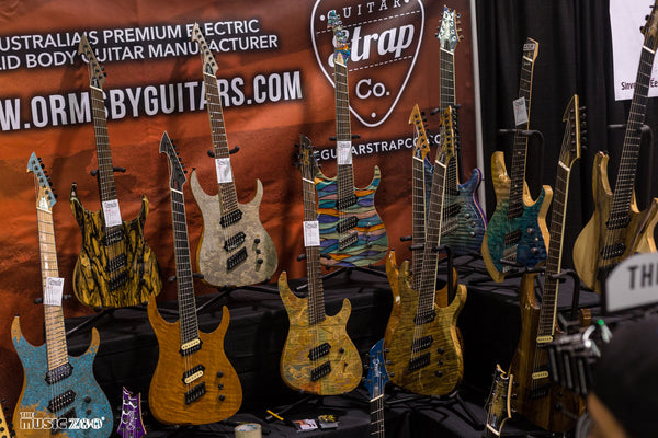NAMM Ormsby Guitars Display 2018