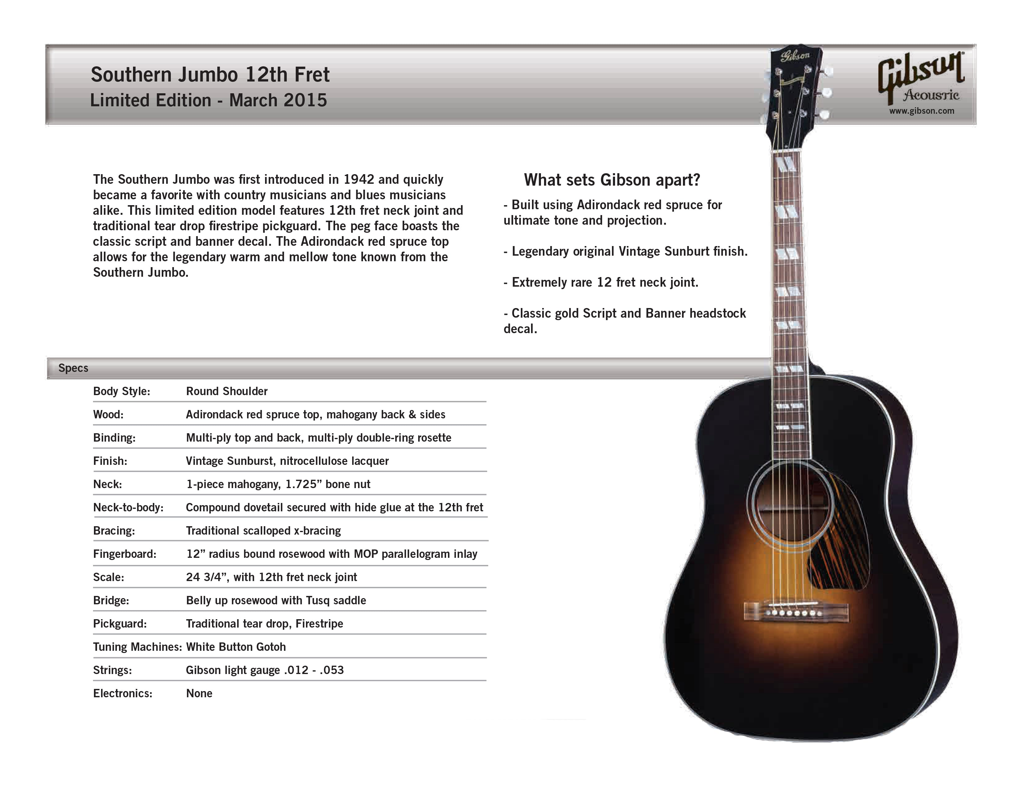 2015 Gibson Limited Edition Acoustics | The Music Zoo