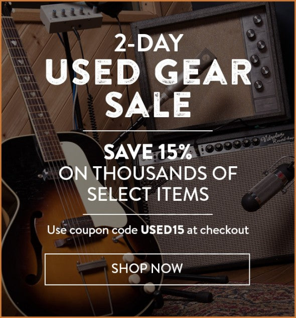 2-Day Sale – 15% Off Used Gear at Reverb.com!