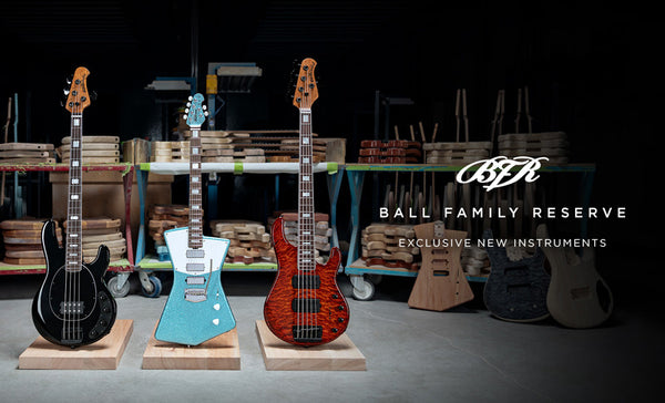 Ernie Ball Music Man April Ball Family Reserve Models Available Now!