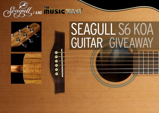 Seagull S6 Music Zoo Exclusive Koa Giveaway