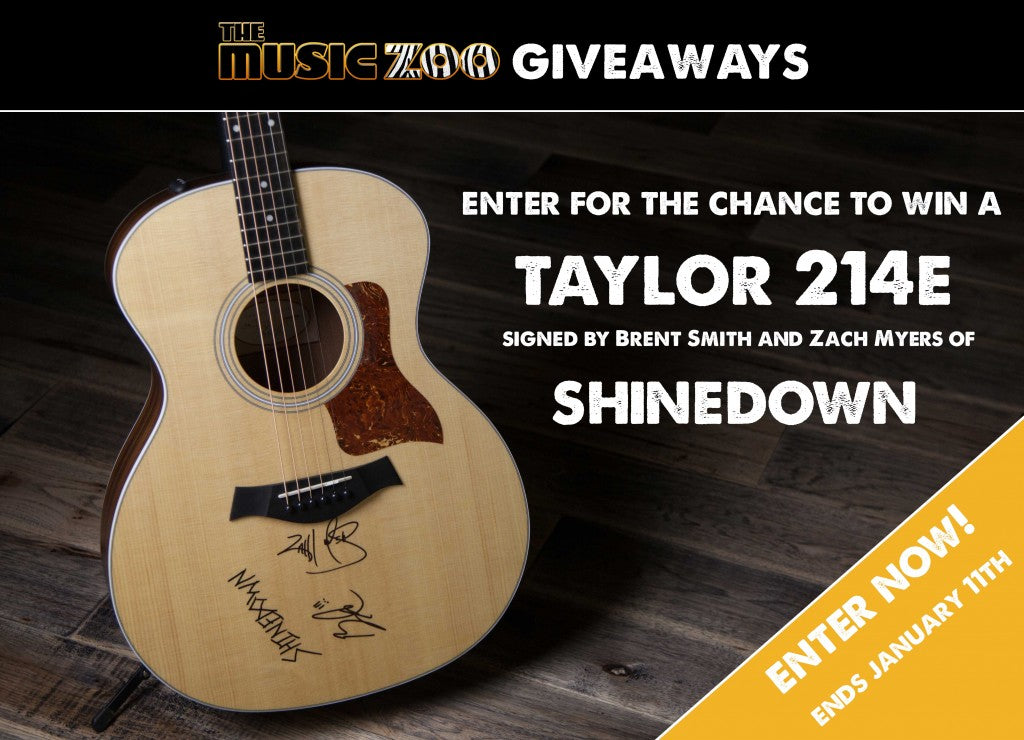 Win A Taylor 214e Acoustic Guitar Signed By Members Of Shinedown!