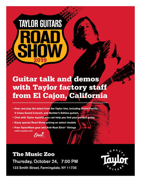 Taylor Road Show October 24 2019 - The Music Zoo
