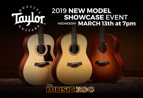 Taylor New Model Showcase The Music Zoo March 13