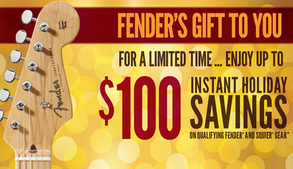 Instant Holiday Savings On Fender Gear