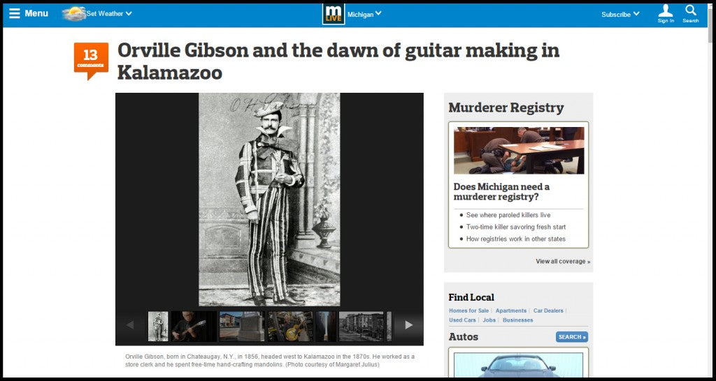 Orville Gibson And The Dawn Of Guitar-Making In Kalamazoo