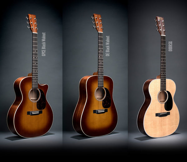 Martin Introduces Limited Edition Black Walnut Ambertone Acoustics + New Road Series 000RSG