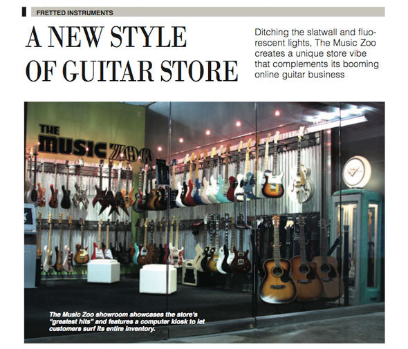The Music Zoo Featured In Music Trades Magazine