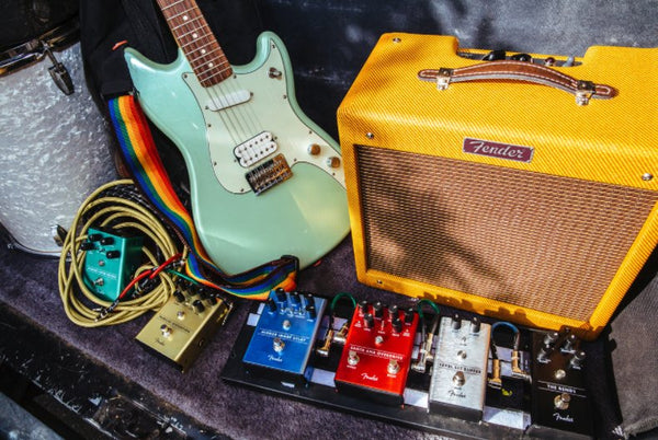New Fender Boutique-Style Guitar Effects Pedals - Delay, Overdrive, Distortion, Reverb, Compressor