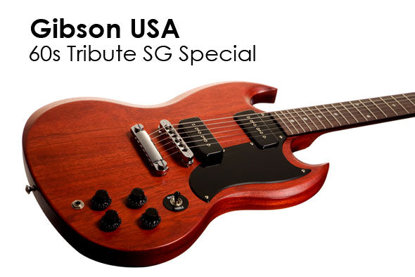 Gibson 60s Tribute SG Specials Announced