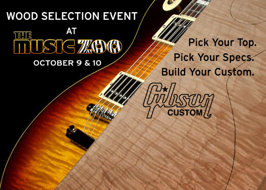 Wood Selection Event at The Music Zoo in the Gibson Custom Shop Trailer