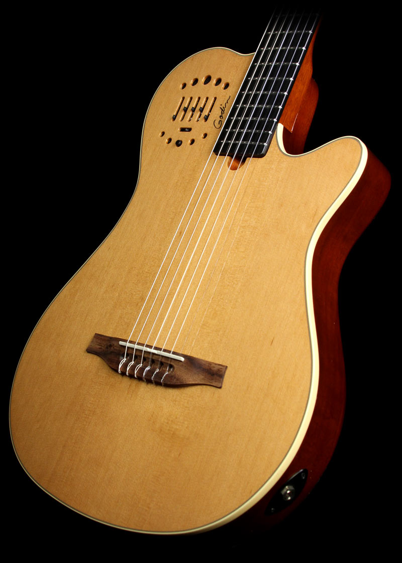 Used Godin Multiac Grand Concert Duet Ambiance Electric Guitar Natural The Music Zoo