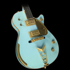 Gretsch Custom Shop Masterbuilt Stephen Stern '59 Penguin Heavy Relic Electric Guitar Daphne Blue