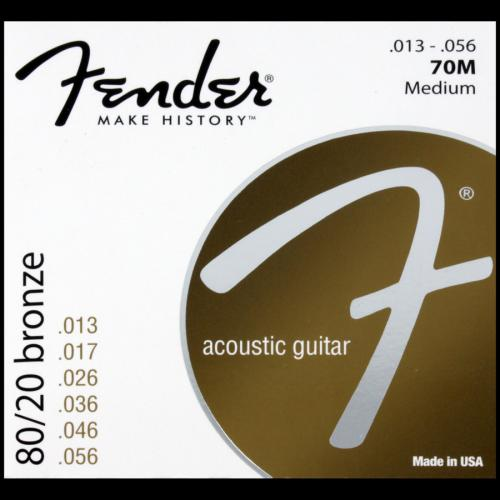 Fender 70M 80/20 Bronze Wound Acoustic Strings (13-56)