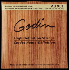 Godin A6 XLT Phosphor Bronze Acoustic Guitar Strings Extra Light (10-47)
