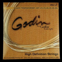 Godin A6 Phosphor Bronze Acoustic Guitar Strings (Light 12-53)