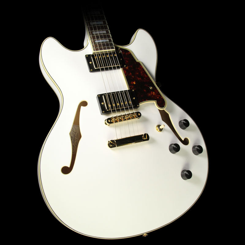 Used D'Angelico EX-DCSP Electric Guitar White DAEXDCSPWH