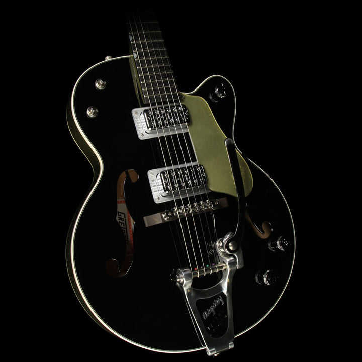 Used Gretsch G6118T-LTV 130TH Anniversary Jr Electric Guitar Black and Metallic Gold JT16030992