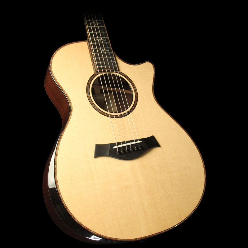 Used Taylor 912ce Grand Concert Indian Rosewood Acoustic Guitar Natural