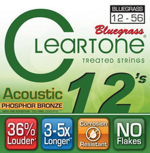 Cleartone EMP Phosphor Bronze Bluegrass Acoustic Guitar Strings (12-56)