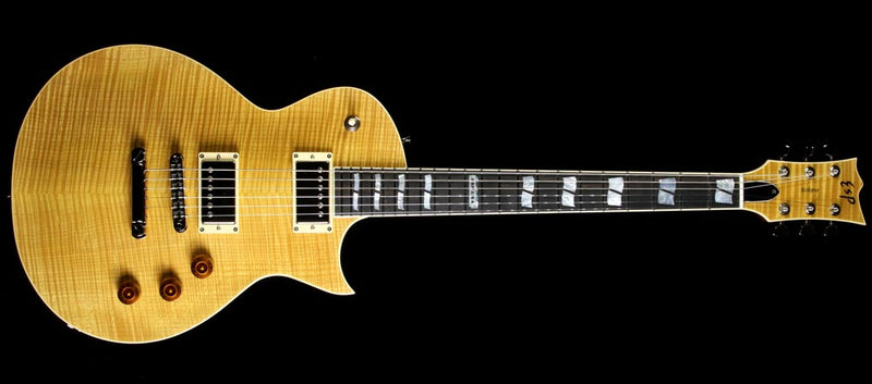 Used ESP USA Eclipse Chambered Electric Guitar Vintage Natural