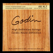 Godin A6 Phosphor Bronze Acoustic Guitar Strings (Extra Light 10-47)