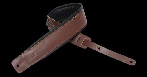 Levy's DM1PD Leather Guitar Strap - Brown