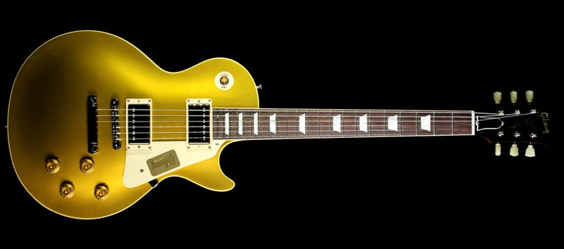 Used Gibson Custom Shop '57 Les Paul Chambered Reissue Electric Guitar Antique Goldtop