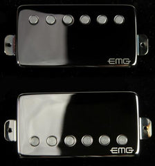 EMG 57/66 Metalworks Electric Guitar Humbucker Pickups Set Black Chrome