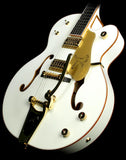 Used 2012 Gretsch G6136T White Falcon with Bigsby Electric Guitar White