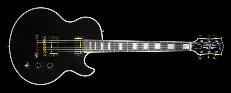 Used Gibson Custom Shop Limited Edition Signed Ronnie Wood Signature L5S Electric Guitar Lamp Black Gloss