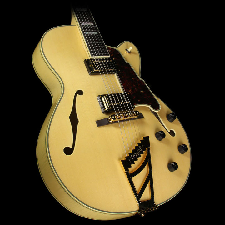 Used 2016 D'Angelico EX-DH Archtop Electric Guitar Natural US15010315