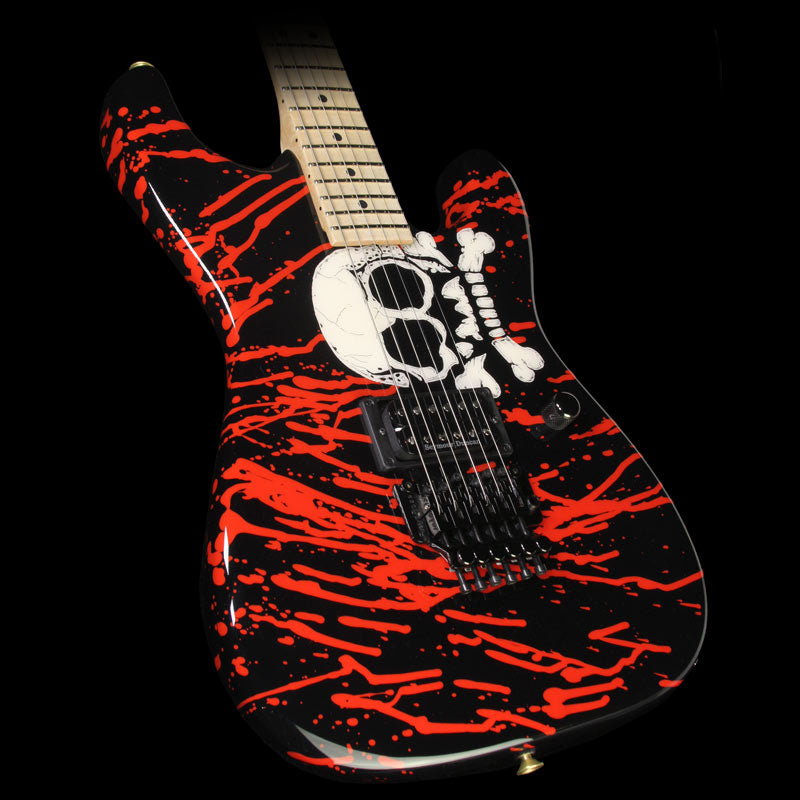 Charvel Custom Shop Warren DeMartini San Dimas Electric Guitar Skull Graphic