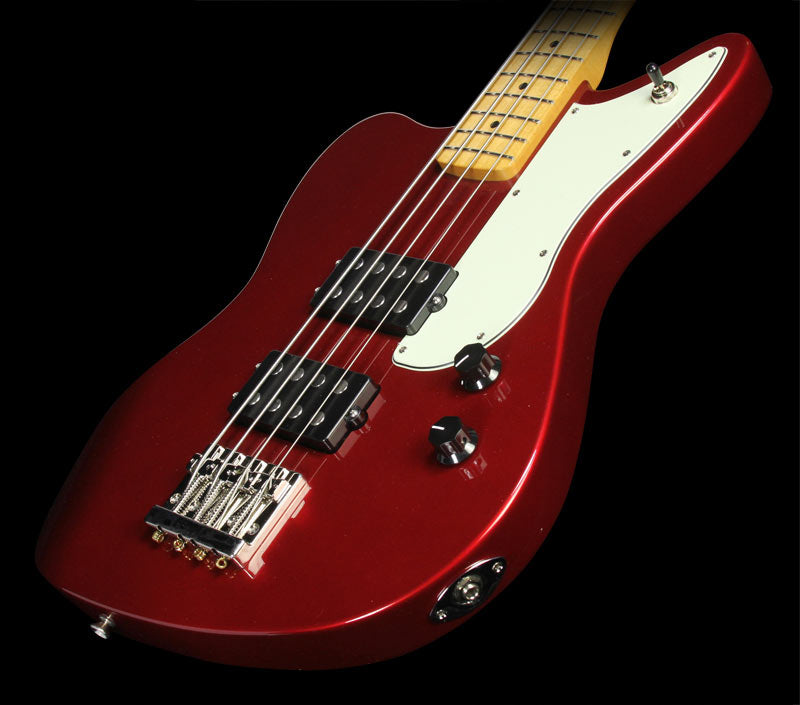 Used Fender Pawn Shop Series Reverse Jaguar Bass Electric Bass Guitar Candy Apple Red